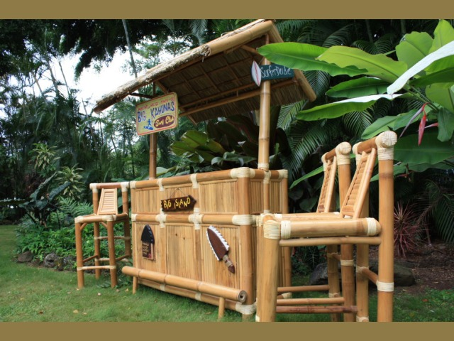 Big Kahuna Outdoor Tiki Bar Outdoor Bar Ideas - Backyard tiki bar ideas