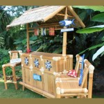 East Coast Outdoor Tiki Bar - Nautical Bamboo Tiki Bar