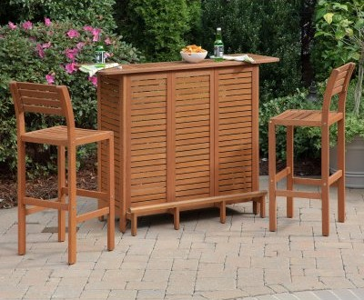 Home Styles Montego Bay Outdoor Bar Set
