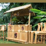 Pirate Quarters Outdoor Tiki Bar - Outdoor Bamboo Tiki Bar Pirate Decor